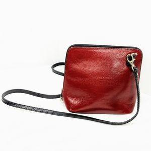 Vera Pelle Made in Italy Crossbody Purse Red